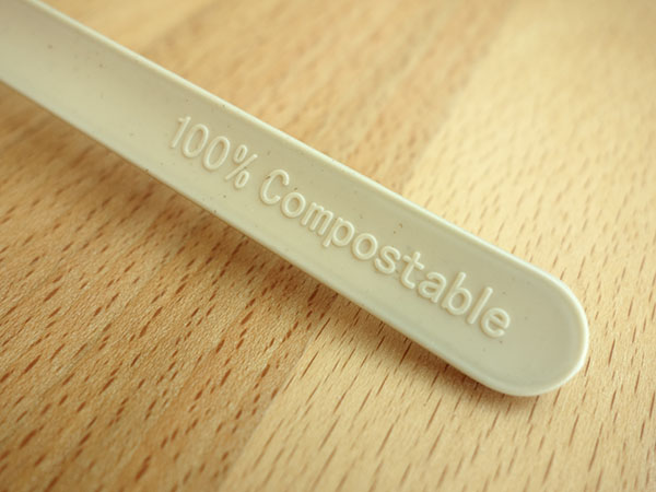 CPLA+Bamboo Plant-based Compostable Plastic-free Renewable 7 inch Cutlery7